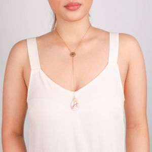 CORALIE  collier pendentif extra long