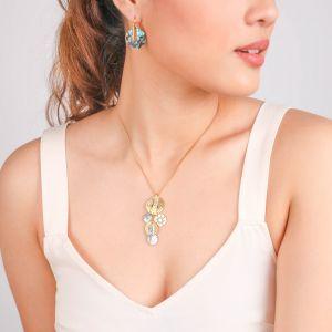 DANNA  collier pendentif multipampilles