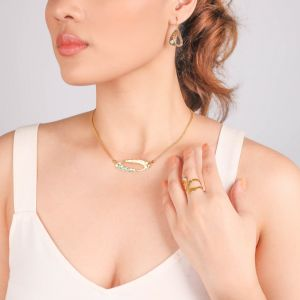 INES chain oval necklace