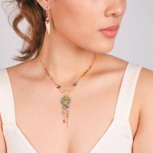 TIWA collier pendentif 2 rangs