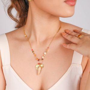 TIWA collier pendentif 3 pampilles