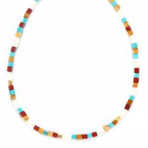 SORA  collier court cubes multicolores