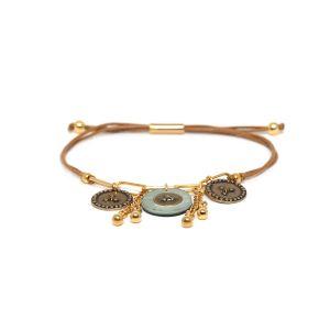 SCARLETT bracelet macramé multipampilles bleu