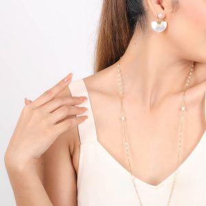 MARIA boucles d'oreilles poussoir top perle d'eau douce