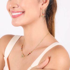 AMOR boucles d'oreilles crochets perlés