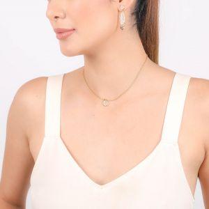 JAHIA boucles d'oreilles poussoir 2 éléments Nacre et 3 perles