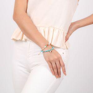 SORA  bracelet extensible cubes turquoise