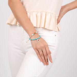 SORA  bracelet macramé cubes multicolores
