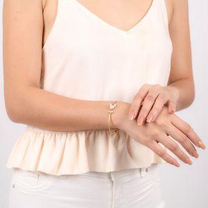 MARIA bracelet semi rigide cabochon perle de d'eau douce
