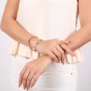 AMOR bracelet macramé 3 p'tits coeurs