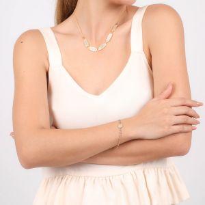 JAHIA bracelet fin médaillon peint à la main