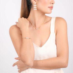 JAHIA bracelet simple élément oval peint à la main