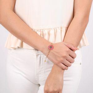 SCARLETT bracelet fermoir mousqueton rose