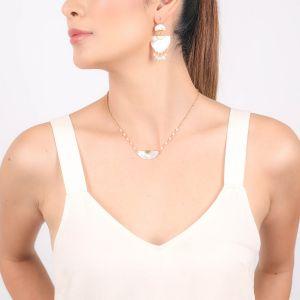 """MARIA """"fan shape"""" necklace"""