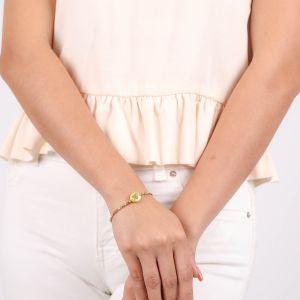LES COMPLICES-CORAZON  bracelet extensible COEUR doré