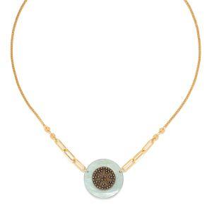 SCARLETT short disc necklace blue