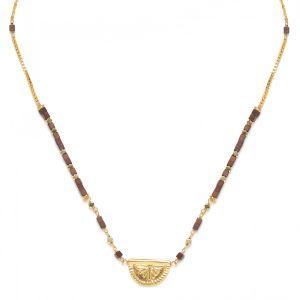 VANILLE half disc necklace