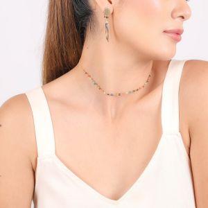 LENNIE  boucles d'oreilles poussoir 3 pampilles