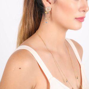 EDEN boucles d'oreilles poussoir anneaux multipampilles