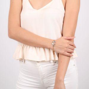 VALORINE bracelet jonc semi-rigide fermoir mousqueton