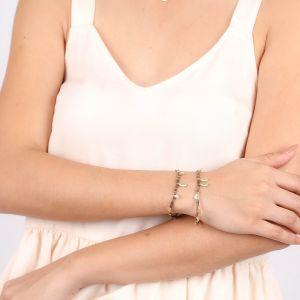 VANILLE bracelet extensible multipampilles