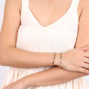 VANILLE button stretch bracelet