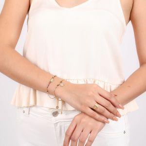VANILLE half disc bracelet