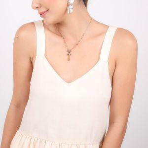 LENNIE  collier pendentif pompon