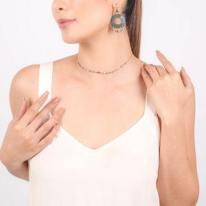 LENNIE  collier court mini perles