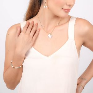 VALORINE small disc necklace