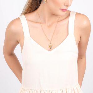 EDEN drop w/ dangle necklace