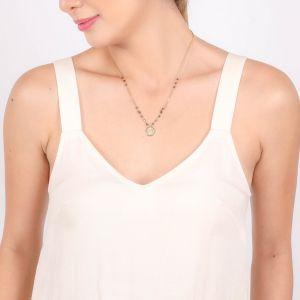 VANILLE metal drop necklace