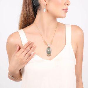 CALYPSO enameled blacklip necklace